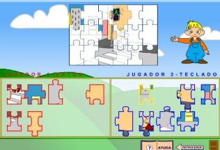 Juego Puzzle nivel medio empezado
