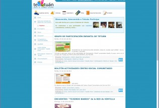 Página de inicio de la web perteneciente al distrito Tetúan de Madrid.