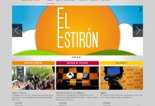Página de inicio de Antena 3 Eventos