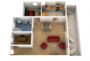Vista cenital apartamento