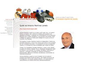 Página de información de Antonio Martínez Laredo