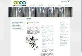Página de Servicios de Arco Agroalimentaria