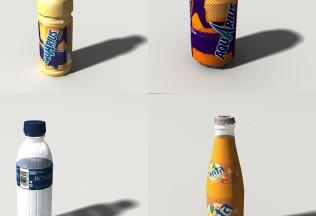 Modelos tridimensionales de CocaCola