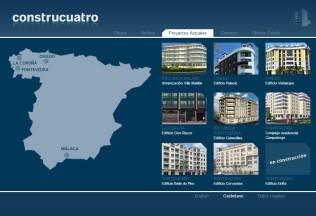 Página de proyectos de Construcuatro