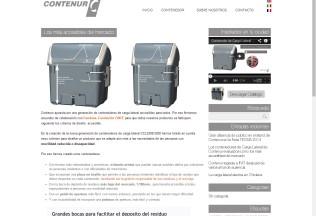 Página descriptiva del contenedor Contenur