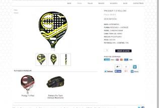 Producto en la tienda online de Corus Padel