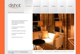 Página de inicio de Dishot