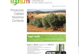 Página de inicio de Ego Sum