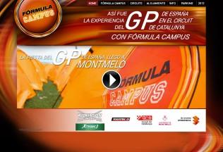 Página de inicio de Fórmula Campus