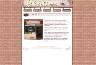 Página de inicio de Geno Gourmet