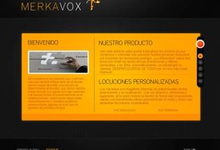 Página de bienvenida de Merkavox
