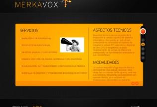 Página de servicios de Merkavox