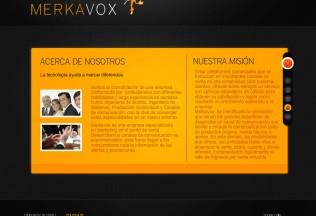 Página de información de Merkavox