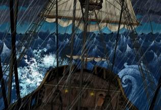 Concepto timón tormenta - Sopa de Sobre