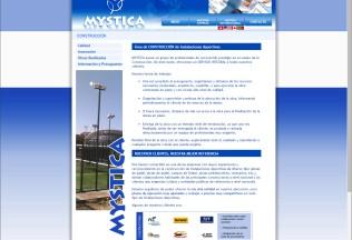 Sección construcción de Mystica Sports