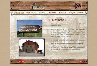 Página de inicio de web El Navarón