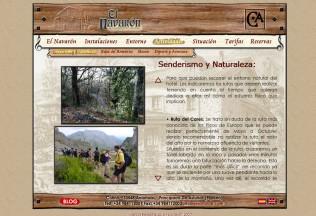 Sección senderismo de web El Navarón