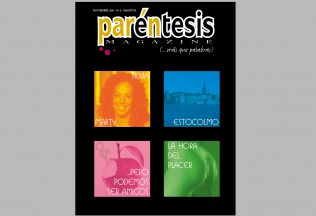 Portada del número 1 de Paréntesis Magazine