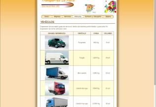 Página vehículos de Transportes La Plata