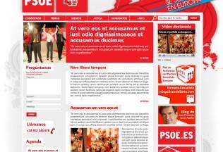 Página de inicio PSOE - datos fictícios