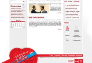 Sección inferior web PSOE - Datos fictícios