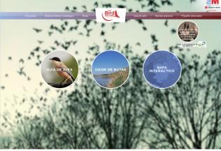 Página de inicio de la web Madrid Birdwatching.