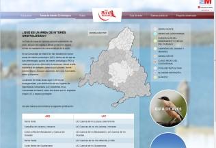 Página de áreas de interés ornitológico de la web Madrid Birdwatching.