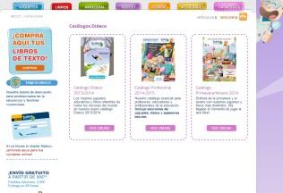 Sección de catálogos de Dideco