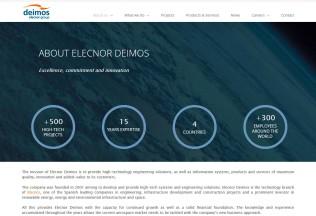 Página About Us de Elecnor Deimos