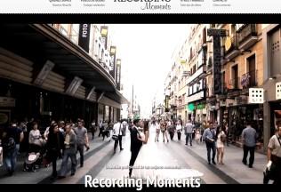 Página de inicio de Recording Moments