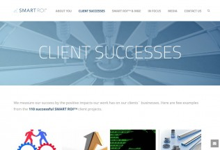 Sección Client Successes de Smart Roi