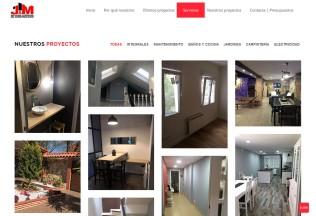 Sección de proyectos de la empresa J&M Reformas