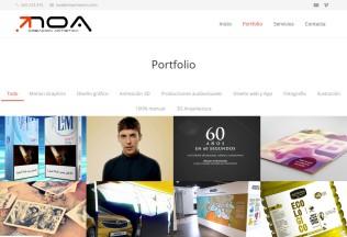 Página de proyectos de la web de Noa Creaciones