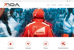 Página inicial de la web de Noa Creaciones