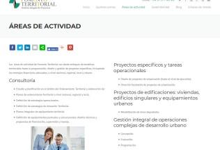 Sección Áreas de actividad