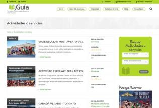 Listado de servicios y anuncios de Guía para Colegios