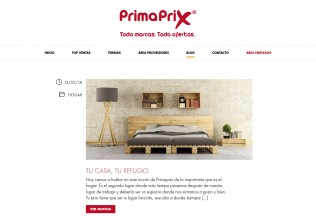 Página de noticias de Primaprix