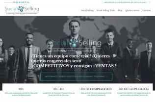 Página de inicio de web Social Selling