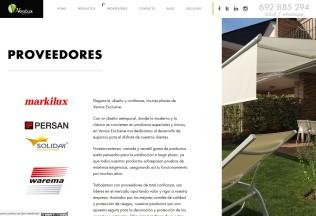 Página de proveedores de Ventux