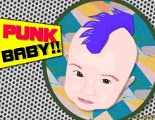Ilustración cabeza bebé