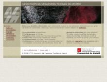 Web Asociación de Creadores Textiles de Madrid