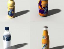 Modelos 3d bebidas