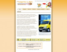 Web Transportes la Plata