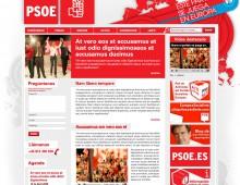 Web PSOE Europeas 2009